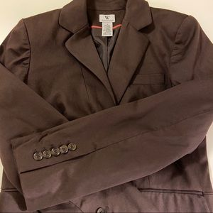 Worthington Brown Blazer Jacket Size 4 EUC